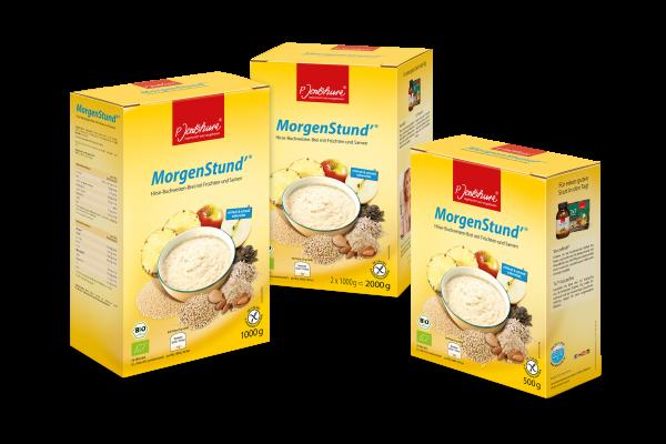Bio MorgenStund'® Hirse Buchweizen Brei mit Früchten und Samen