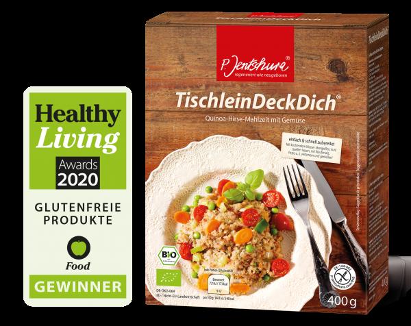 Bio TischleinDeckDich® Quinoa-Hirse-Mahlzeit mit Gemüse